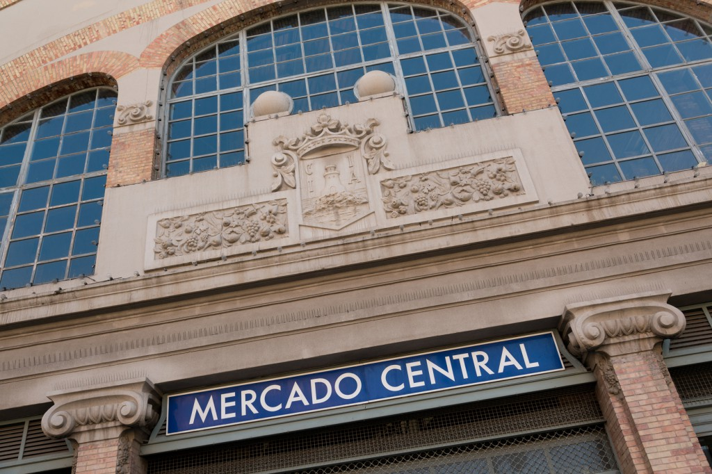 El reloj del mercado central de Alicante