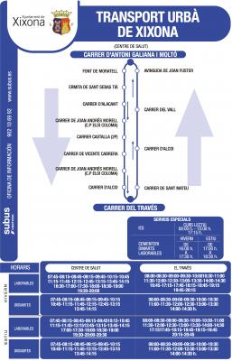 Recorrido y horarios de la línea U1 bus Xixona