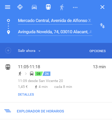 2016-02-16 11_00_13-de Mercado Central, Alicante a Avenida Novelda, 74, Alicante - Google Maps