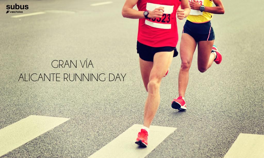 Subús Vectalia en el Gran Vía Alicante Running Day