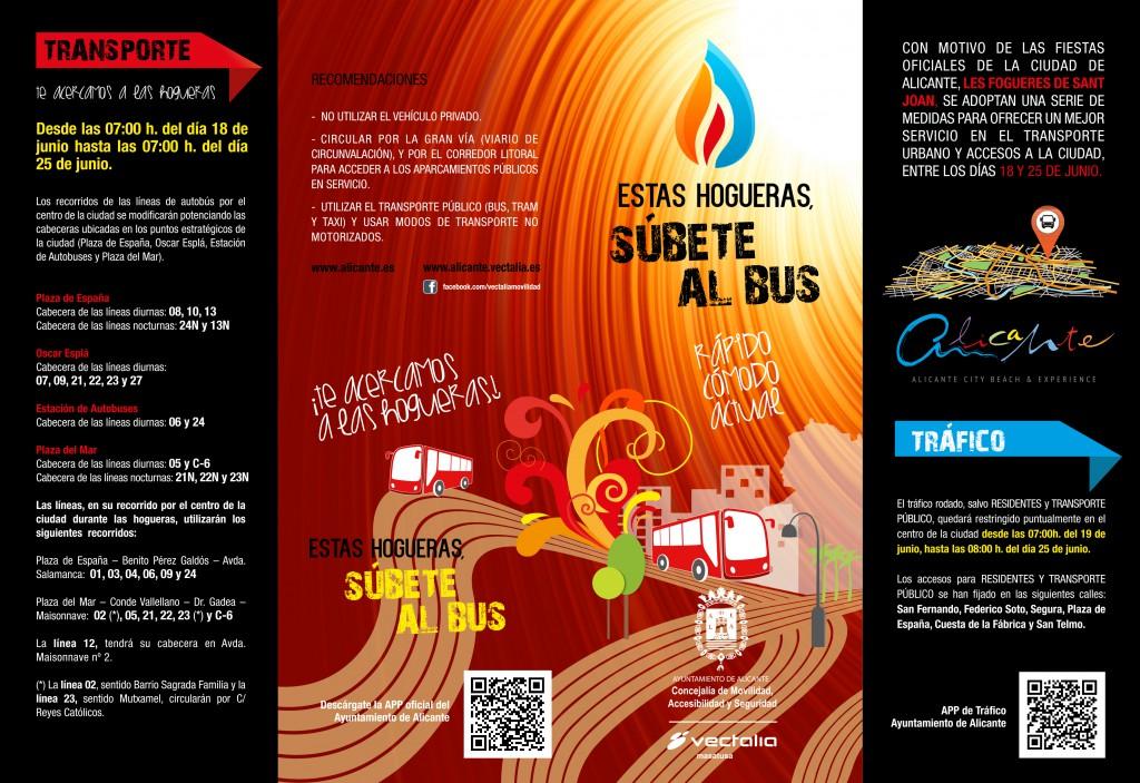 Servicio de autobús en Hogueras