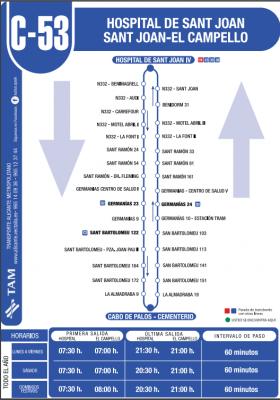 Recorrido de la linea C-53