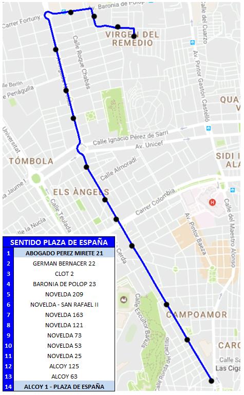 08 Sentido Plaza España (desvío hogueras)