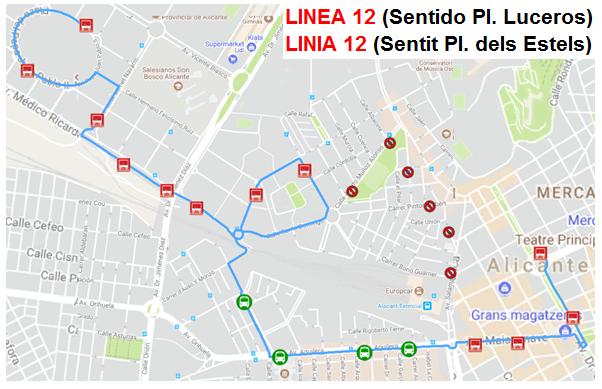plano desvio linea 12