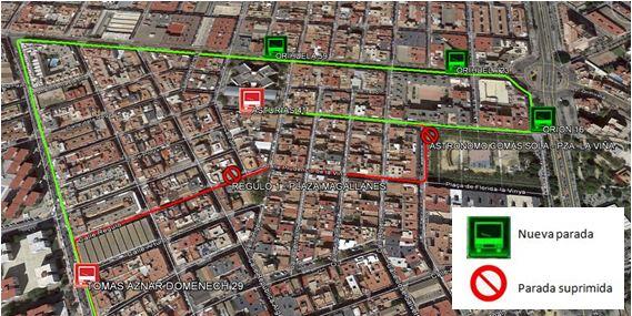 Desvío obras calle Régulo