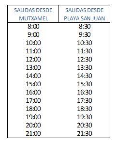 L31 horario (verano 2018)