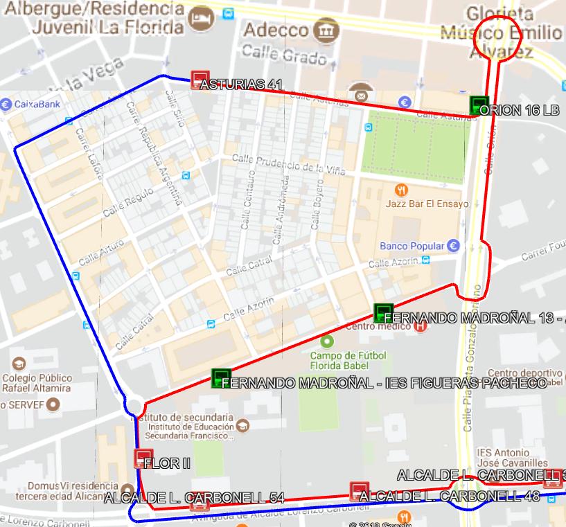 L02 Desvío obras avenida de Orihuela 9_07_18