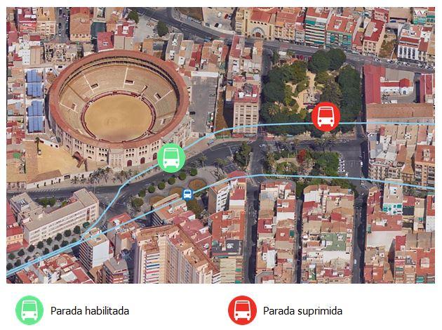 Líneas 24 y 24N Cambio parada Panteón de Quijano