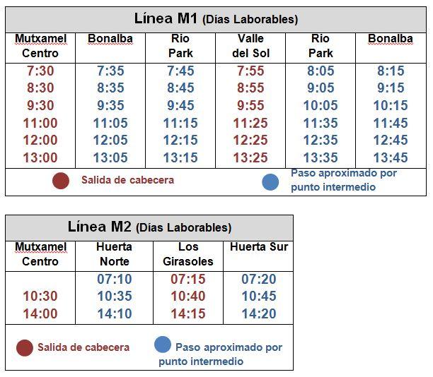 M1-M2 Horario a partir del 3_09_18