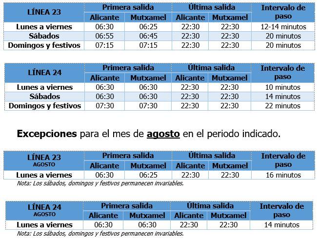 L23 24 Horario Verano