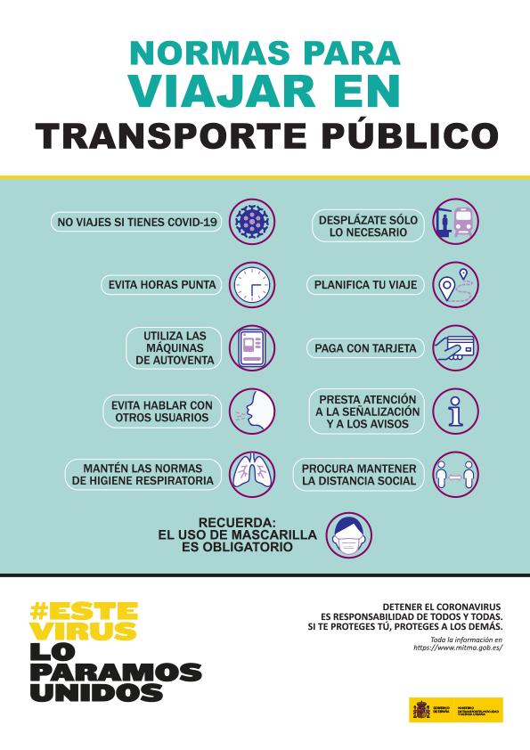 Normas para viajar en el transporte publico