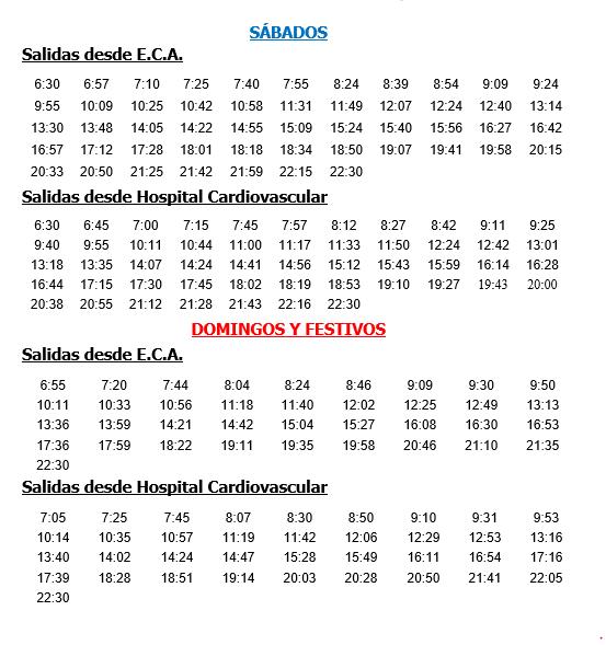 Horario castellano 2