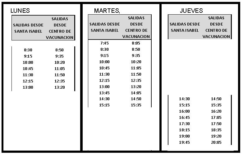 Horario Vacunacion 13-16